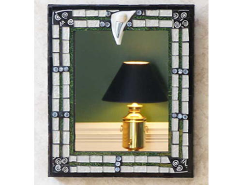 Black Silver Green Mirror