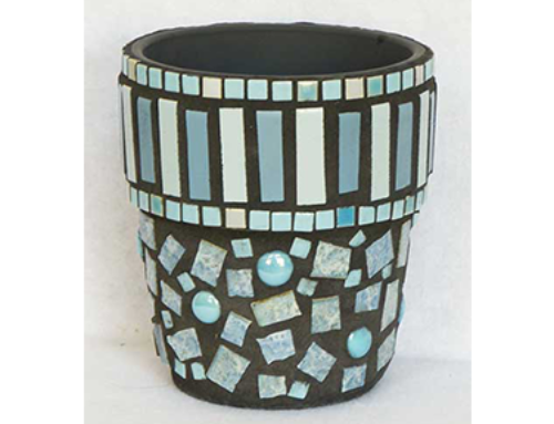 Blue Stripes Pot