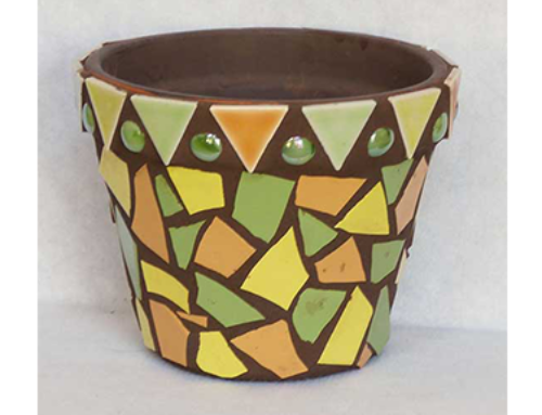 Orange and Green Pot