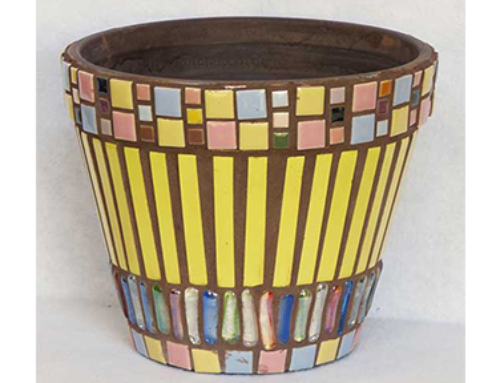 Yellow Striped Pot