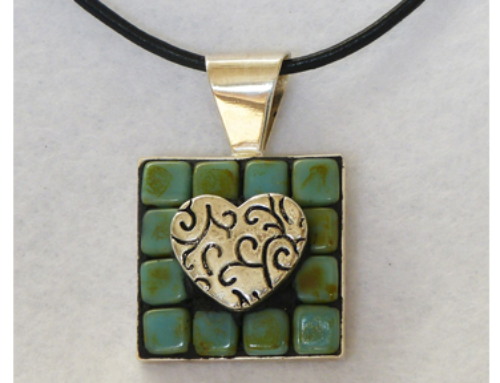 Heart with Scrolls Necklace