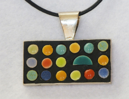 Multi-Colored Rectangle Grid Necklace